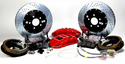 Baer Extreme Rear Brake Kit - Red (07-18 Sierra 1500)