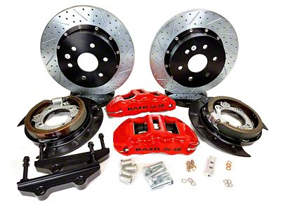 Baer Extreme Plus Rear Brake Kit - Red (07-18 Sierra 1500)