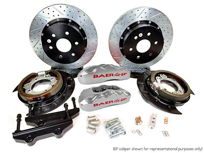 Baer Extreme Plus Rear Brake Kit - Silver (07-18 Sierra 1500)