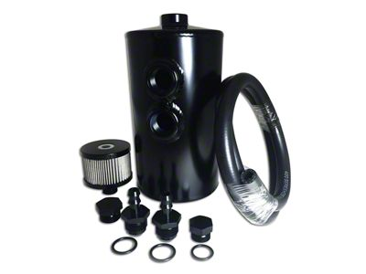 Prosport Dual Baffle Aluminum Oil Catch Can - Black (07-18 Sierra 1500)