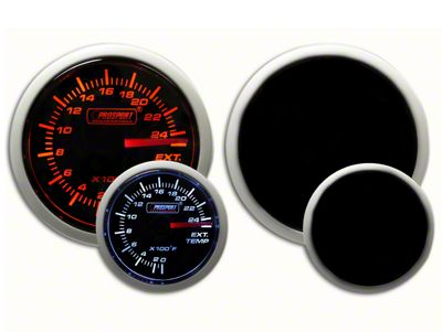 Prosport Dual Color Exhaust Gas Temperature Gauge - Amber/White (07-18 Sierra 1500)