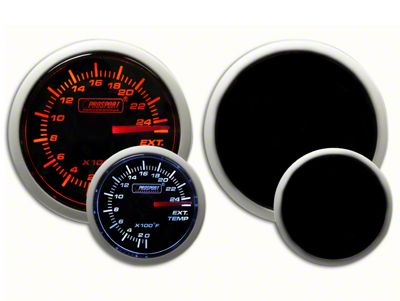 Prosport Dual Color Exhaust Gas Temperature Gauge - Electrical - Amber/White (07-19 Sierra 1500)