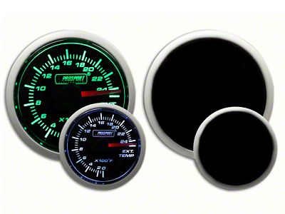 Prosport Dual Color Exhaust Gas Temperature Gauge - Green/White (07-18 Sierra 1500)
