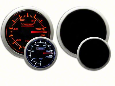 Prosport Dual Color Oil Pressure Gauge - Electrical - Amber/White (07-18 Sierra 1500)