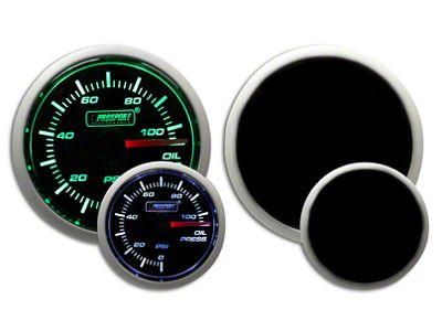 Prosport Dual Color Oil Pressure Gauge - Electrical - Green/White (07-18 Sierra 1500)