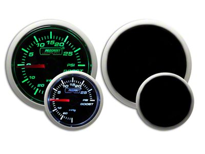 Prosport Dual Color Pressure Boost Gauge - Mechanical - Green/White (07-18 Sierra 1500)