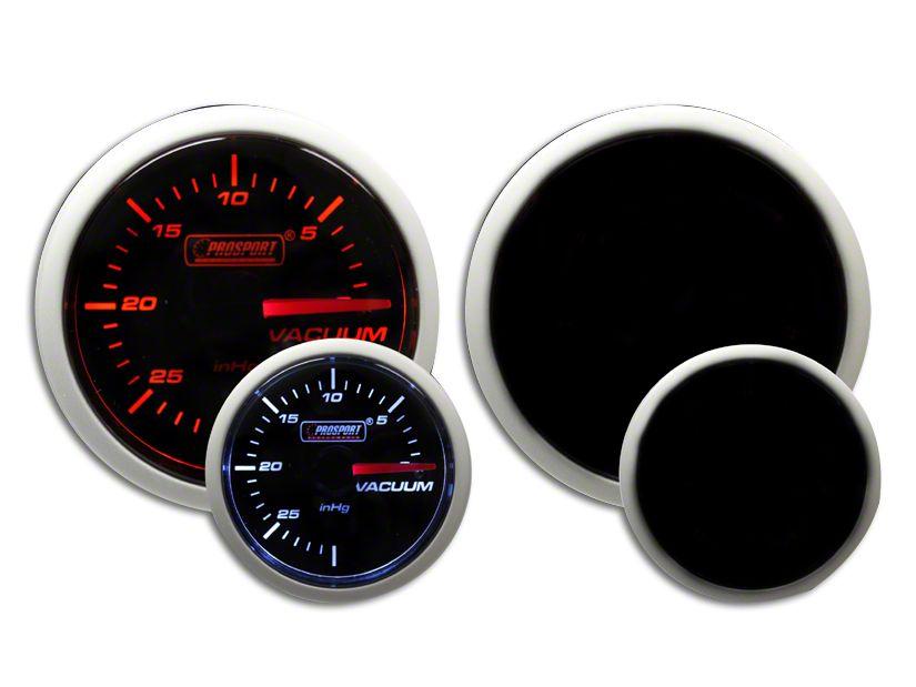 Prosport Dual Color Vacuum Gauge - Mechanical - Amber/White (07-18 Sierra 1500)