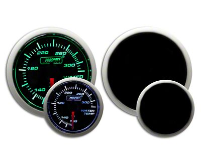 Prosport Dual Color Water Temperature Gauge - Electrical - Green/White (07-18 Sierra 1500)
