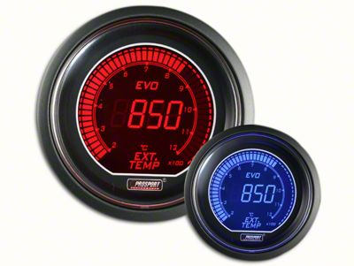 Prosport Dual Color Evo Exhaust Gas Temperature Gauge - Electrical - Red/Blue (07-18 Sierra 1500)
