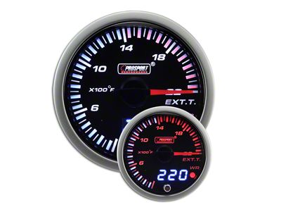 Prosport JDM Exhaust Gas Temperature Gauge - Electrical (07-18 Sierra 1500)