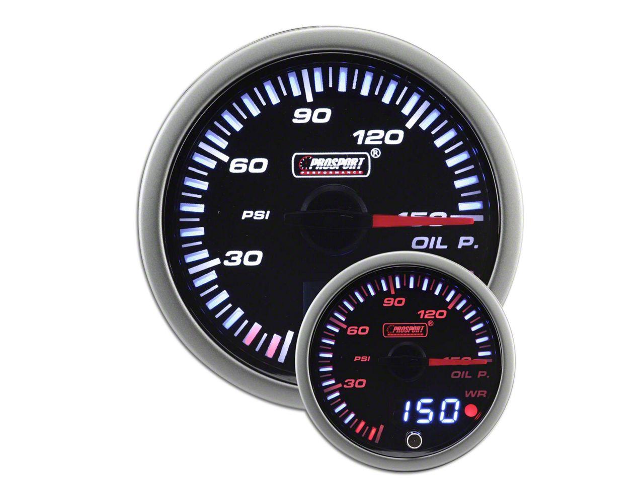 Prosport JDM Oil Pressure Gauge - Electrical (07-18 Sierra 1500)