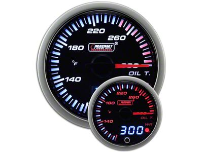 Prosport JDM Oil Temperature Gauge - Electrical (07-18 Sierra 1500)
