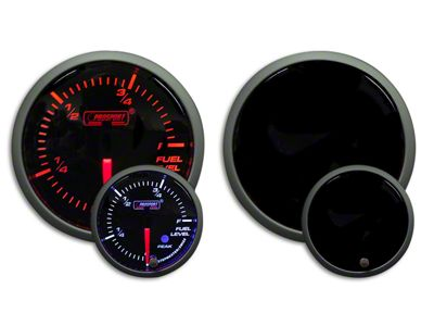 Prosport Dual Color Premium Fuel Level Gauge - Amber/White (07-18 Sierra 1500)
