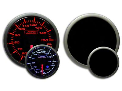Prosport Dual Color Premium Metric Oil Temperature Gauge - Amber/White (07-18 Sierra 1500)
