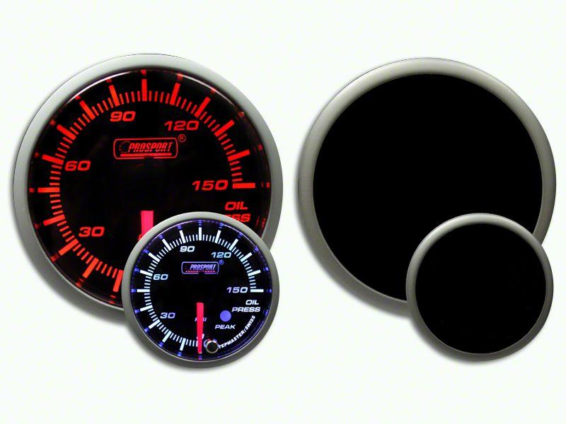 Prosport Dual Color Premium 0-150 PSI Oil Pressure Gauge - Amber/White (07-19 Sierra 1500)
