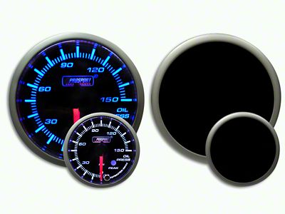 Prosport Dual Color Premium 0-150 PSI Oil Pressure Gauge - Blue/White (07-18 Sierra 1500)