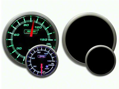 Prosport Dual Color Premium 0-150 PSI Oil Pressure Gauge - Green/White (07-18 Sierra 1500)