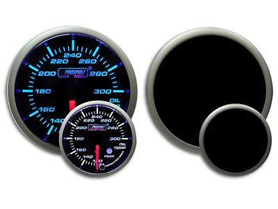 Prosport Dual Color Premium Oil Temperature Gauge - Blue/White (07-18 Sierra 1500)