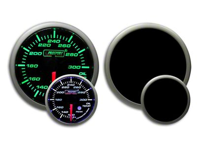Prosport Dual Color Premium Oil Temperature Gauge - Green/White (07-18 Sierra 1500)