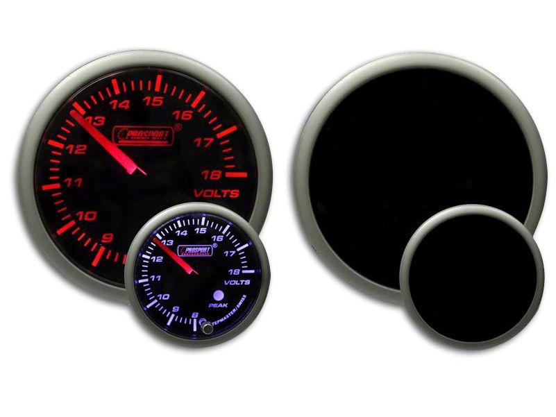 Prosport Dual Color Premium Volt Gauge - Amber/White (07-18 Sierra 1500)