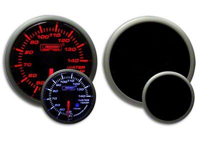 Prosport Dual Color Premium Metric Water Temperature Gauge - Amber/White (07-18 Sierra 1500)