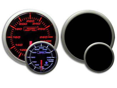 Prosport Dual Color Premium Water Temperature Gauge - Amber/White (07-18 Sierra 1500)