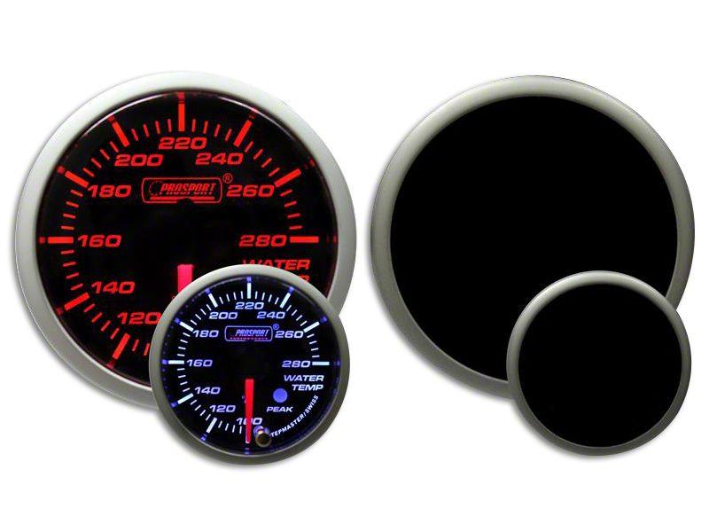 Prosport Dual Color Premium White Pointer Water Temperature Gauge - Amber/White (07-18 Sierra 1500)