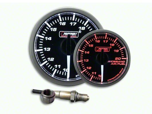 Prosport Dual Color Premium White Pointer Wideband Air Fuel Ratio Kit - Amber/White (07-18 Sierra 1500)
