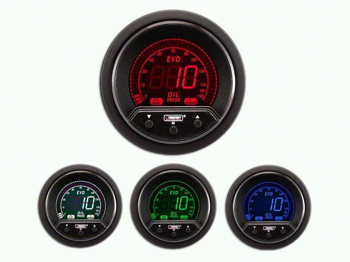 Prosport Premium Evo Oil Pressure Gauge - Electrical (07-18 Sierra 1500)