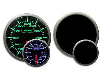 Prosport Premium Water Temperature Gauge - Green/White (07-18 Sierra 1500)