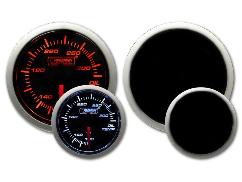 Prosport Tri-Color Halo Oil Temperature Gauge - Amber/White/Blue (07-18 Sierra 1500)