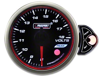 Prosport Tri-Color Halo Volt Gauge - Blue/White/Amber (07-18 Sierra 1500)