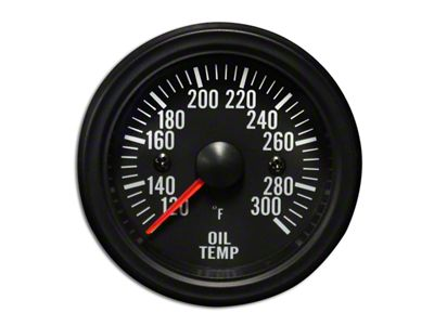 Prosport White LED Oil Temperature Gauge - Electrical (07-18 Sierra 1500)