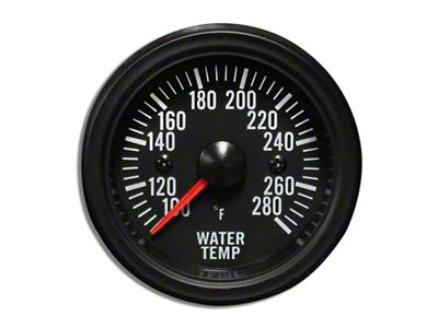 Prosport White LED Water Temperature Gauge - Electrical (07-18 Sierra 1500)