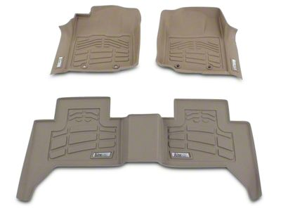 Wade Sure-Fit 2nd Row Floor Liner - Tan (14-18 Sierra 1500 Double Cab, Crew Cab)
