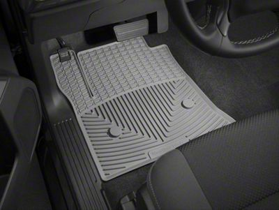 Weathertech All Weather Front Rubber Floor Mats - Gray (14-18 Sierra 1500)