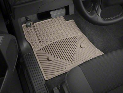 Weathertech All Weather Front Rubber Floor Mats - Tan (14-18 Sierra 1500)