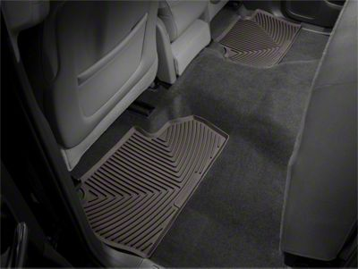 Weathertech All Weather Rear Rubber Floor Mats - Cocoa (14-18 Sierra 1500 Double Cab, Crew Cab)