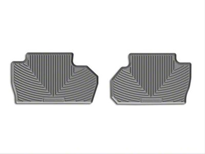 Weathertech All Weather Rear Rubber Floor Mats - Gray (14-18 Sierra 1500 Double Cab, Crew Cab)