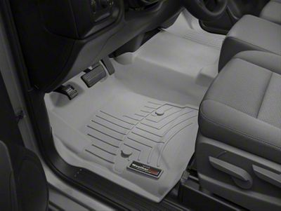 Weathertech DigitalFit Front Floor Liner - Over The Hump - Gray (14-18 Sierra 1500)