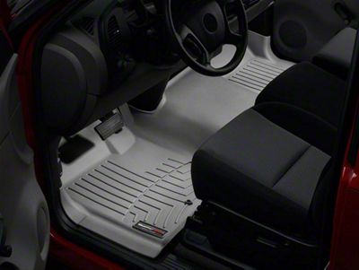 Weathertech DigitalFit Front Floor Liner - Over The Hump - Gray (07-13 Sierra 1500)