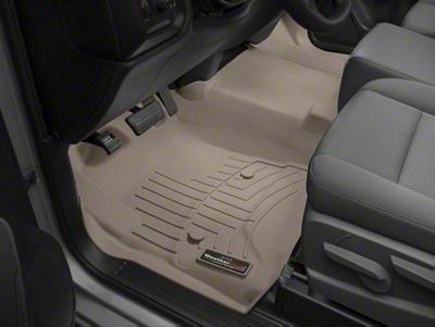 Weathertech DigitalFit Front Floor Liner - Over The Hump - Tan (14-18 Sierra 1500)