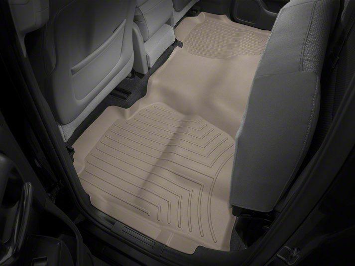 Weathertech DigitalFit Front Floor Liners - Tan (14-18 Sierra 1500 Double Cab, Crew Cab)