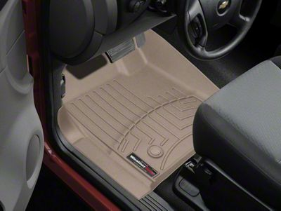 Weathertech DigitalFit Front Floor Liners - Tan (07-13 Sierra 1500 w/o Floor Shifter)