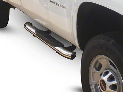 Westin Pro Traxx 5 in. Oval Side Step Bars - Stainless Steel (14-18 Sierra 1500)