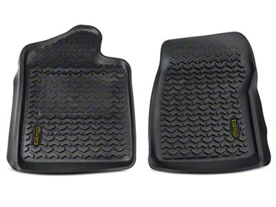 Barricade Front Floor Mats - Black (07-13 Sierra 1500 Regular Cab)