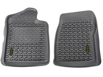 Barricade Front Floor Liners - Gray (07-13 Sierra 1500 Regular Cab)