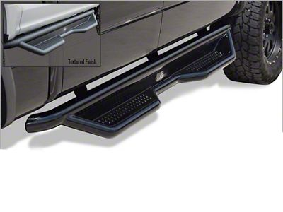 Steel Craft Heavy Duty Side Step Bars - Semi-Gloss Black (07-13 Sierra 1500 Extended Cab, Crew Cab)