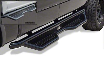 Steel Craft Heavy Duty Side Step Bars - Semi-Gloss Black (14-18 Sierra 1500 Double Cab, Crew Cab)