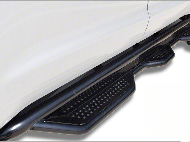 Steel Craft Heavy Duty Wheel-to-Wheel Side Step Bars - Semi-Gloss Black (14-18 Sierra 1500 Double Cab)